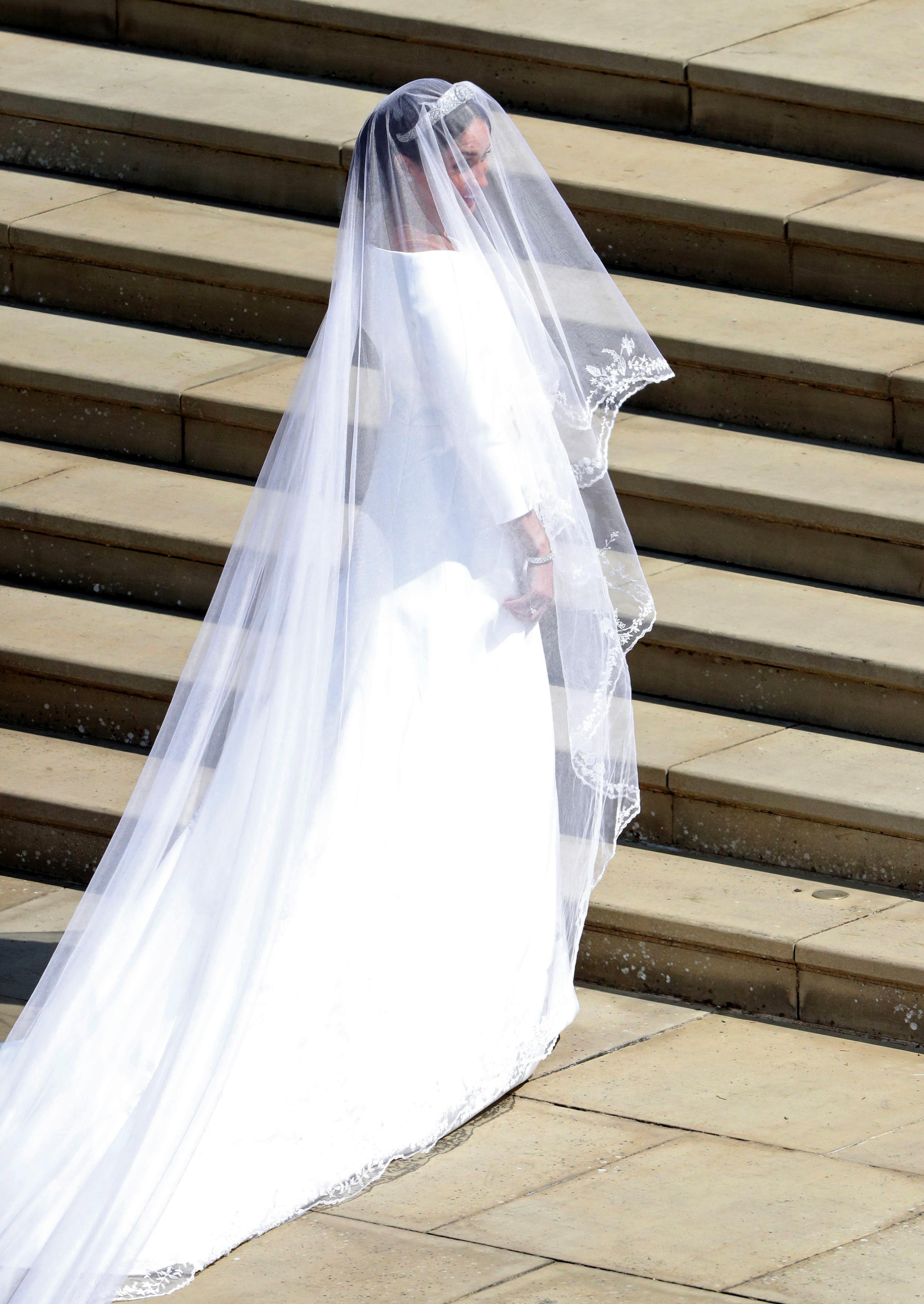 Meghan Markle's Givenchy wedding dress.