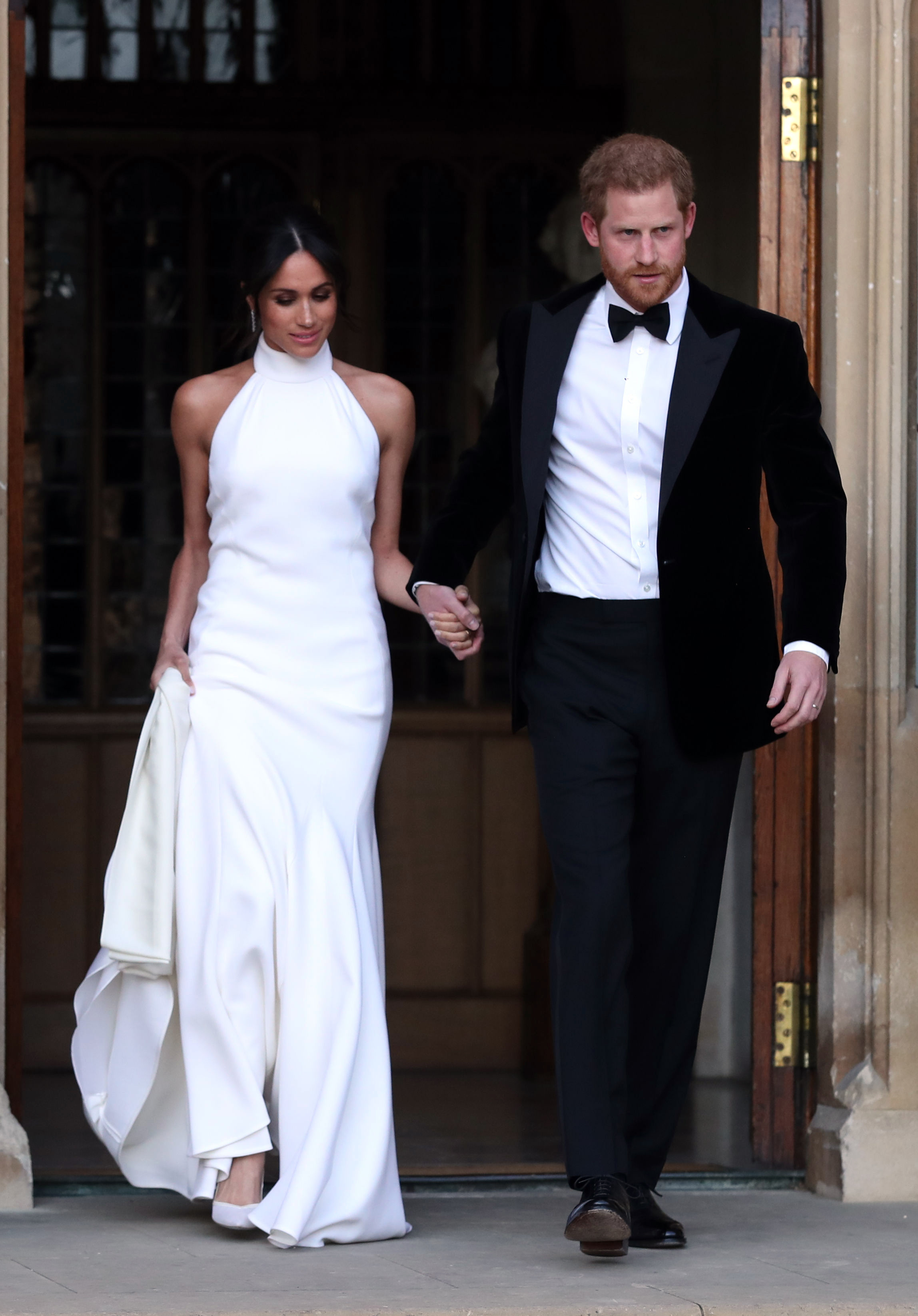 Meghan Markle's Stella McCartney reception dress.