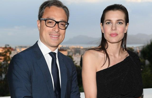 Mont Blanc chief executive Nicolas Baretzki and Charlotte Casiraghi