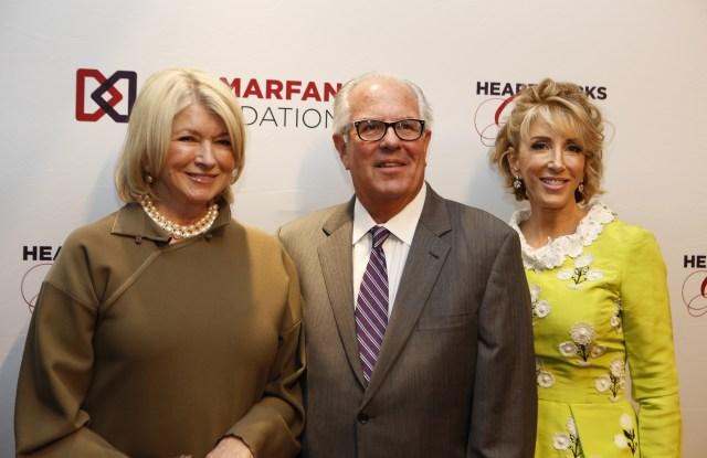 Martha Stewart, Marfan Foundation's MIchael Weamer and Karen Murray