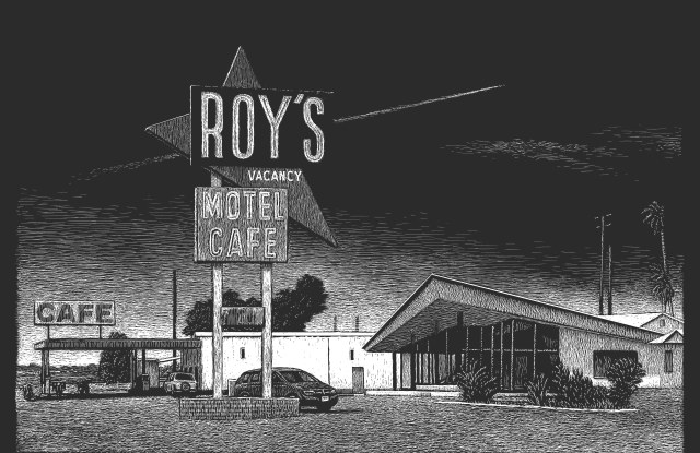 An image by Thomas Ott from Louis Vuitton's 'Route 66' book.