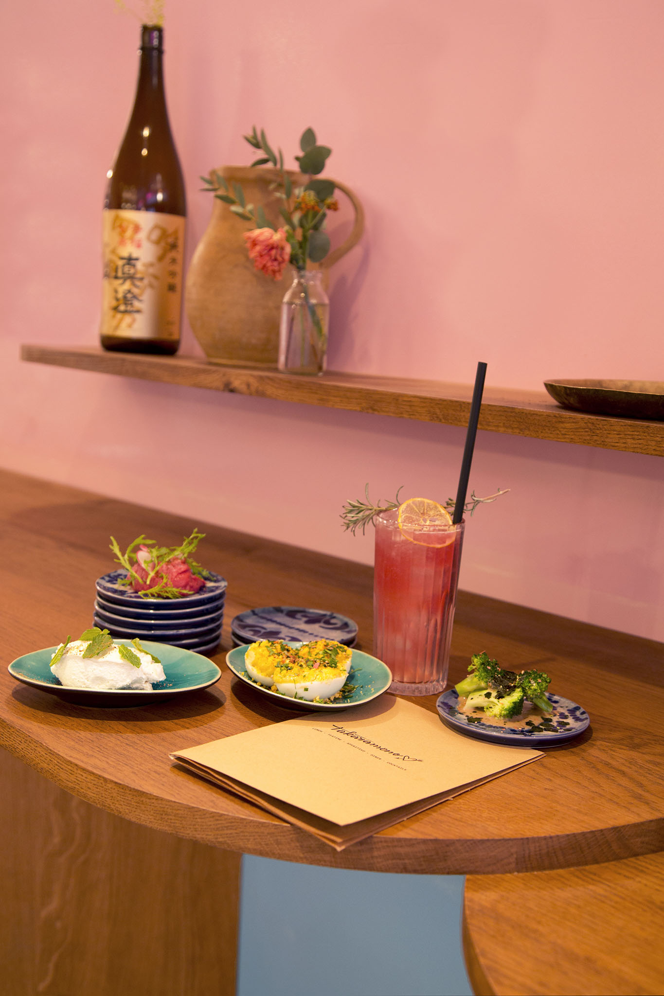 A selection of dishes at Takaramono