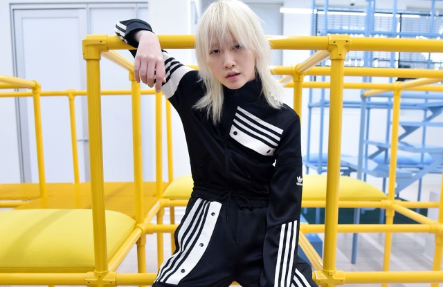 A look from Adidas Originals By Danielle Cathari RTW Fall 2018.