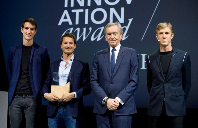 Alexandre Arnault, Julien Foussard, Bernard Arnault and Ian Rogers