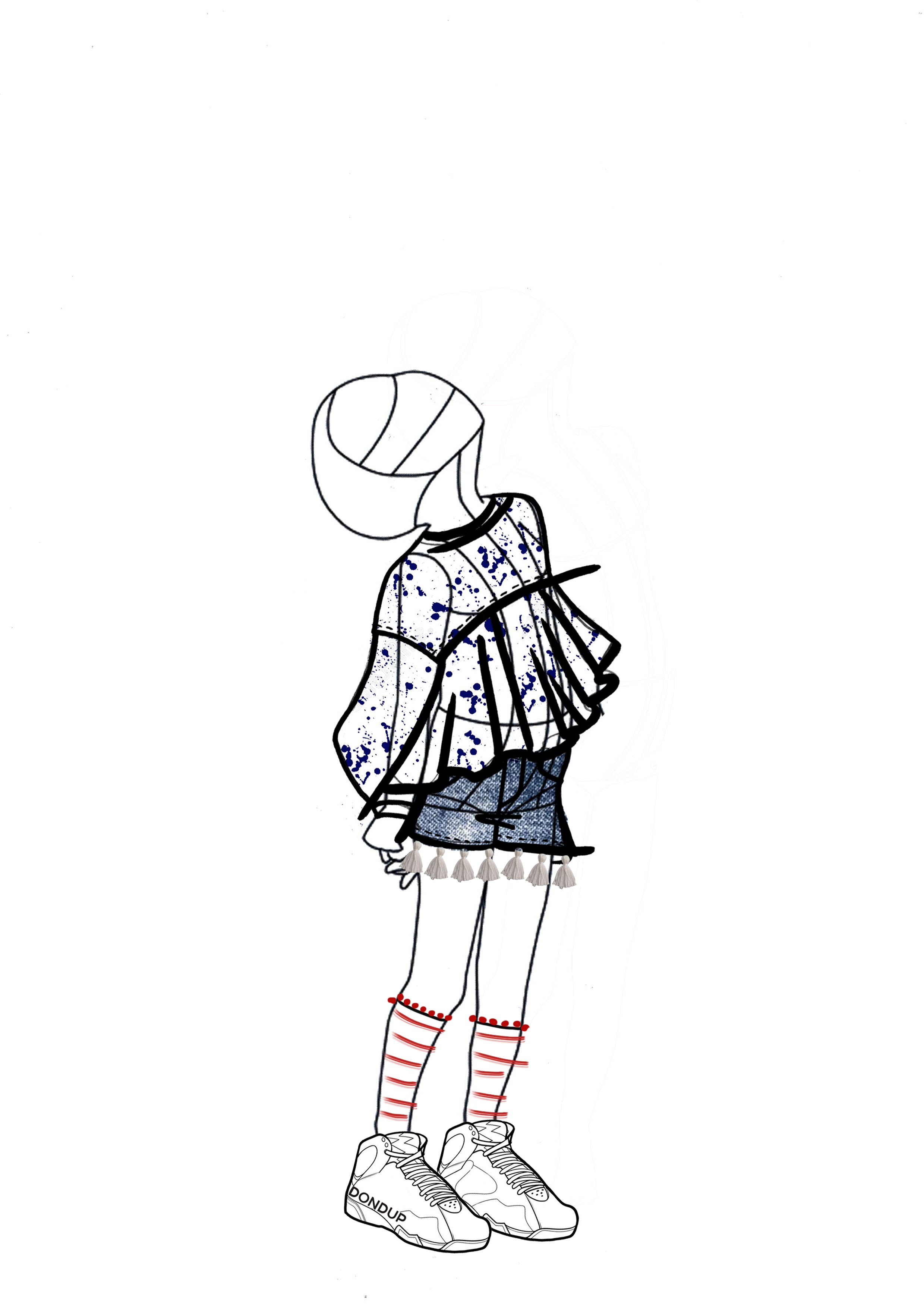 A sketch of the Dondup children's wear spring/summer 2019 collection