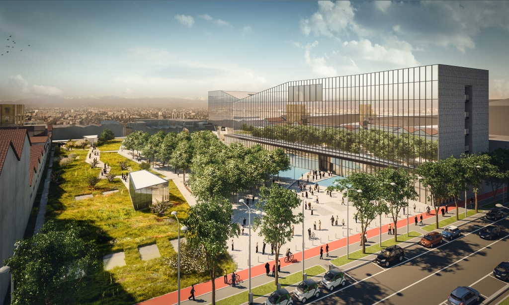 A rendering of Fastweb's new headquarters.