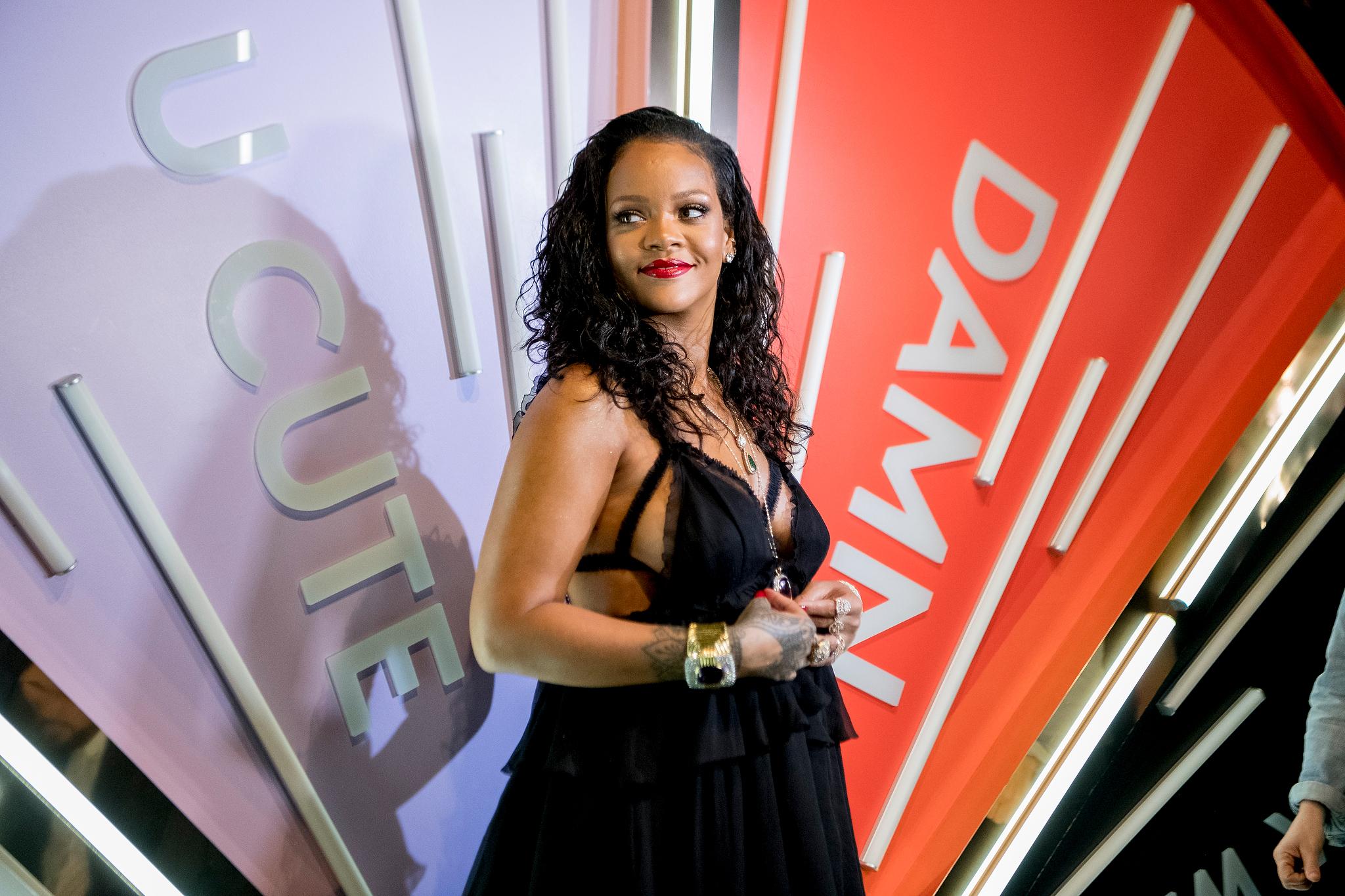 Rihanna at Savage x Fenty launch