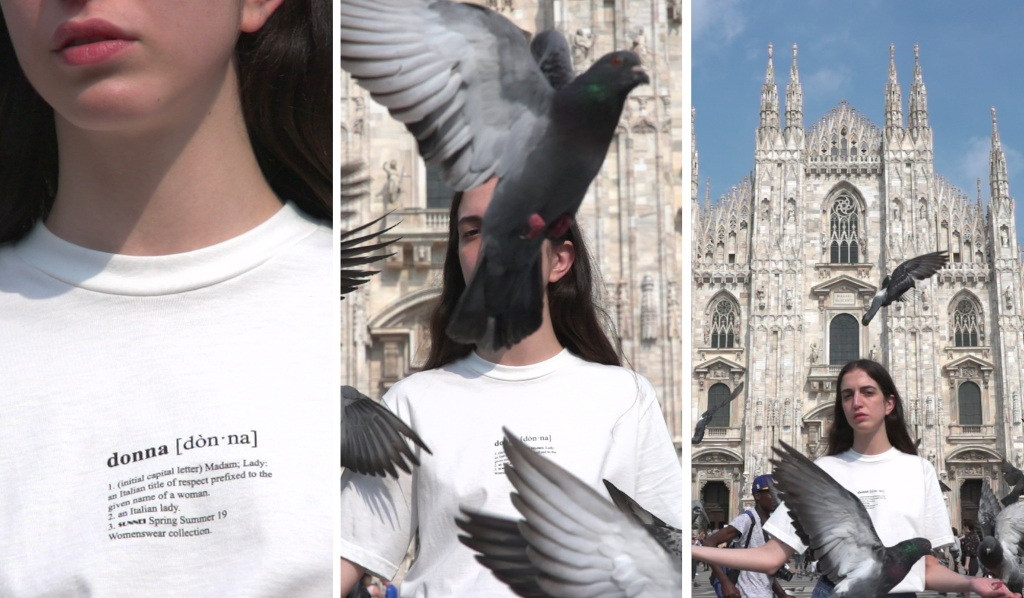 Sunnei's T-shirt for the launch of the women's line