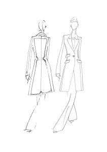 A sketch from the Gillian Anderson x Winser London range