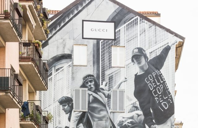 The new Gucci mural in Milan