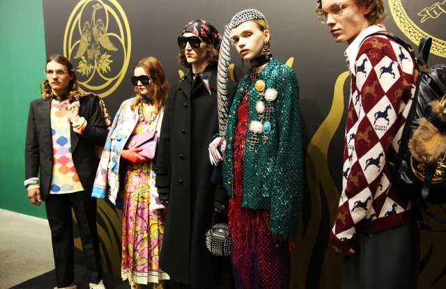 Backstage at Gucci Cruise 2019