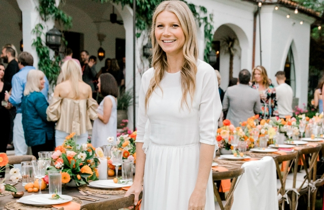 Gwyneth Paltrow at a dinner celebrating Goop's most recent Dallas pop-up.