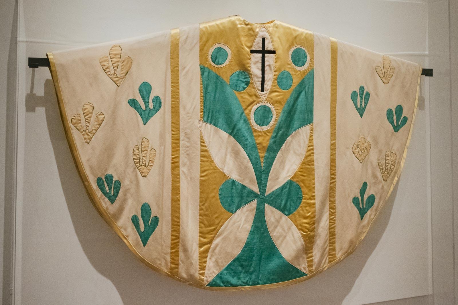 An Henri Matisse-designed chasuble for the Chapel du Rosaire.