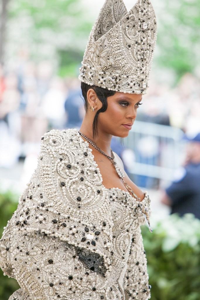Rihanna in Maison Margiela.