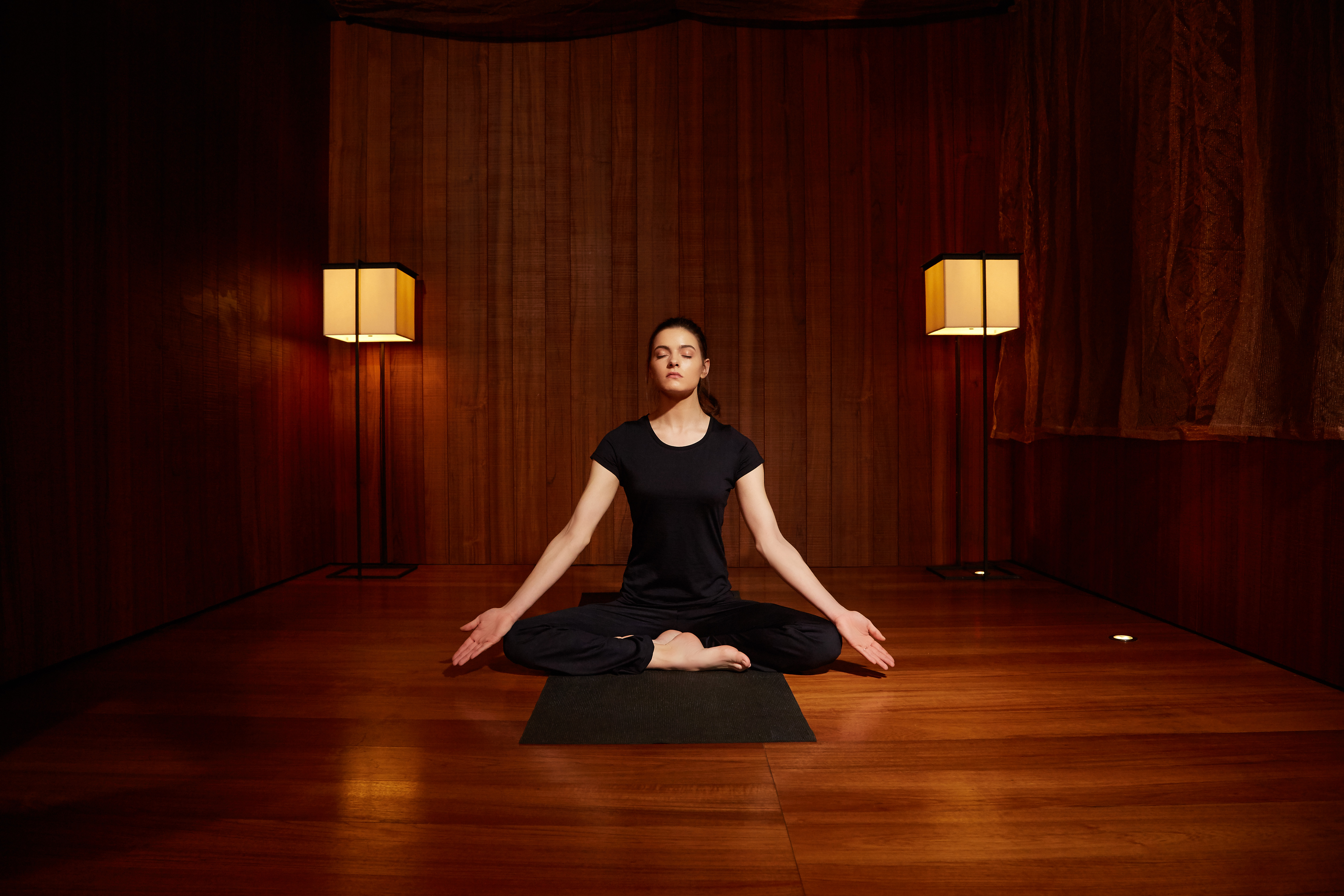 The Woolmark Company's yoga outfit for Mandarin Oriental Milan