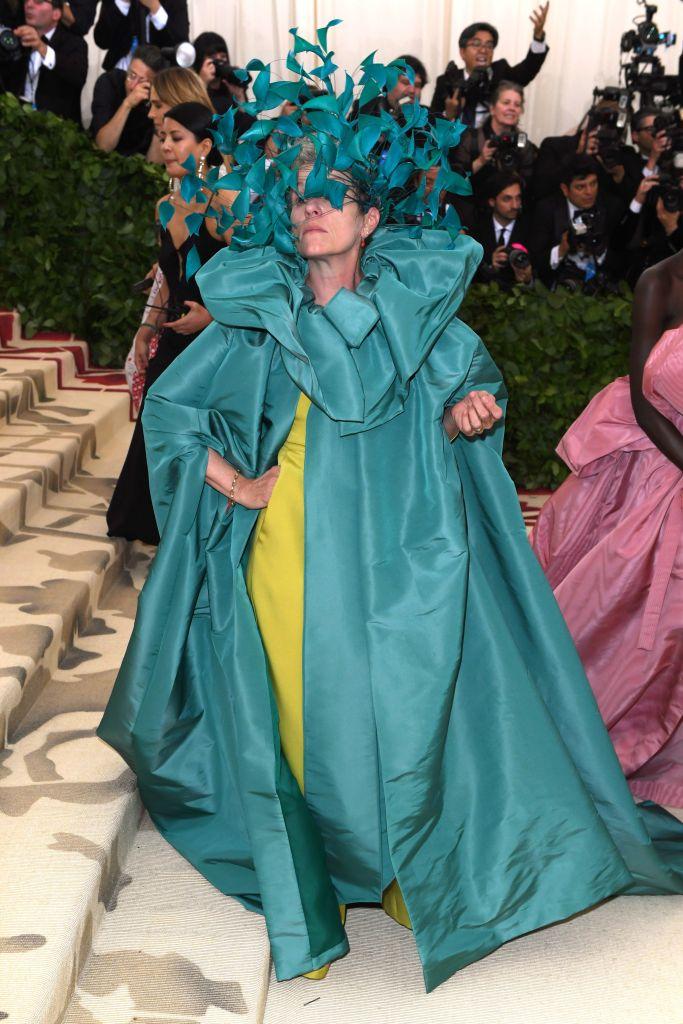 Frances McDormand in custom Valentino Couture, Met Gala 2018