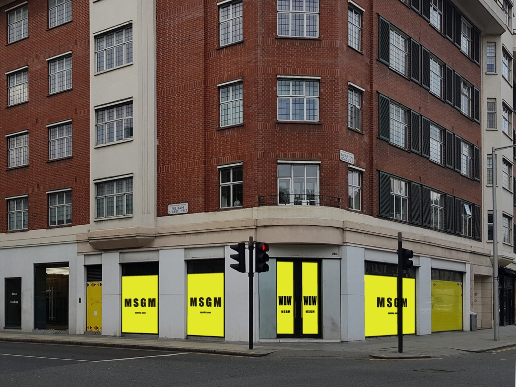 MSGM flagship in London