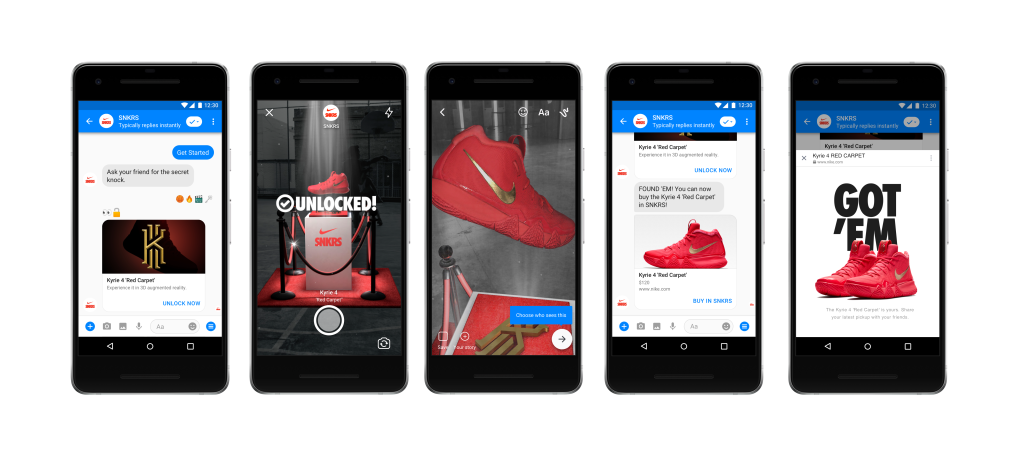 Nike facebook messenger ar augmented reality