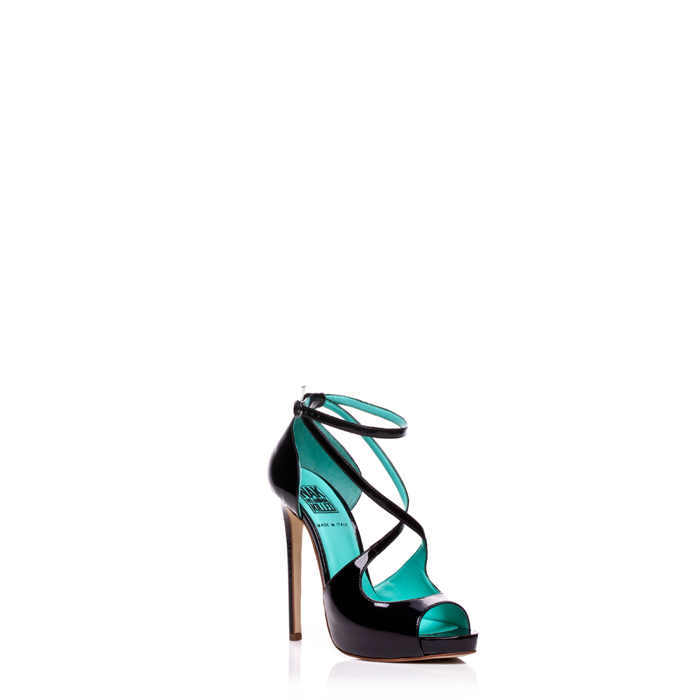 Nak's faux leather heeled sandals.