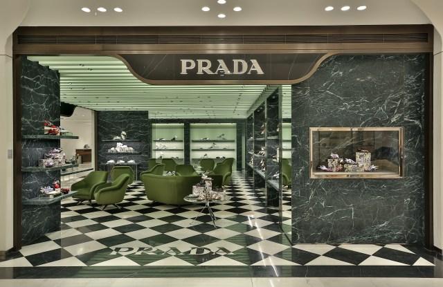 The new Prada boutique at SKP Xian.