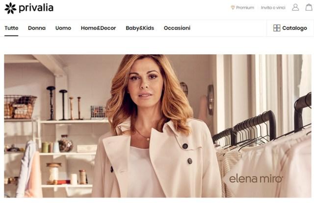 Privalia.com featuring the Elena Mirò capsule collection.
