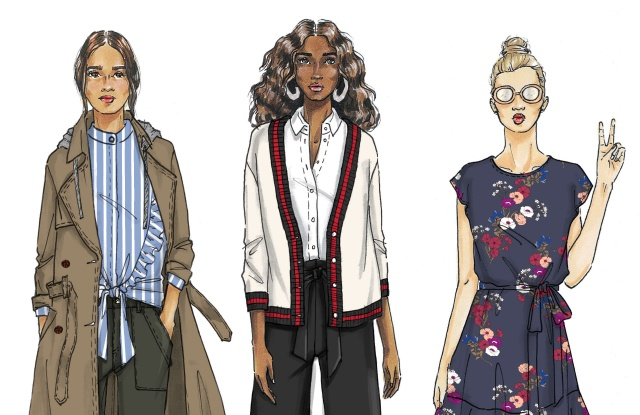 Sketches from PopSugar at Kohl's.