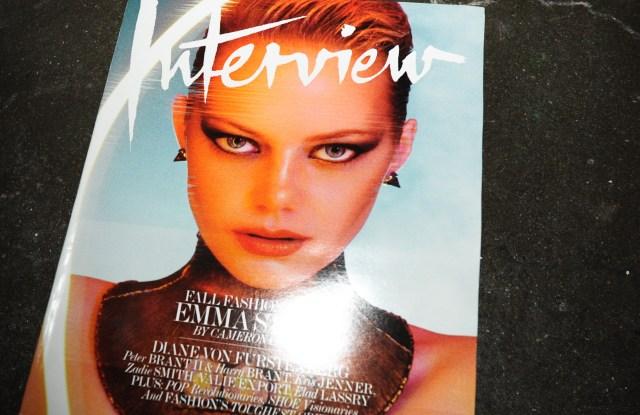 Interview-mosphereInterview Magazine dinner, New York, America - 10 Sep 2012