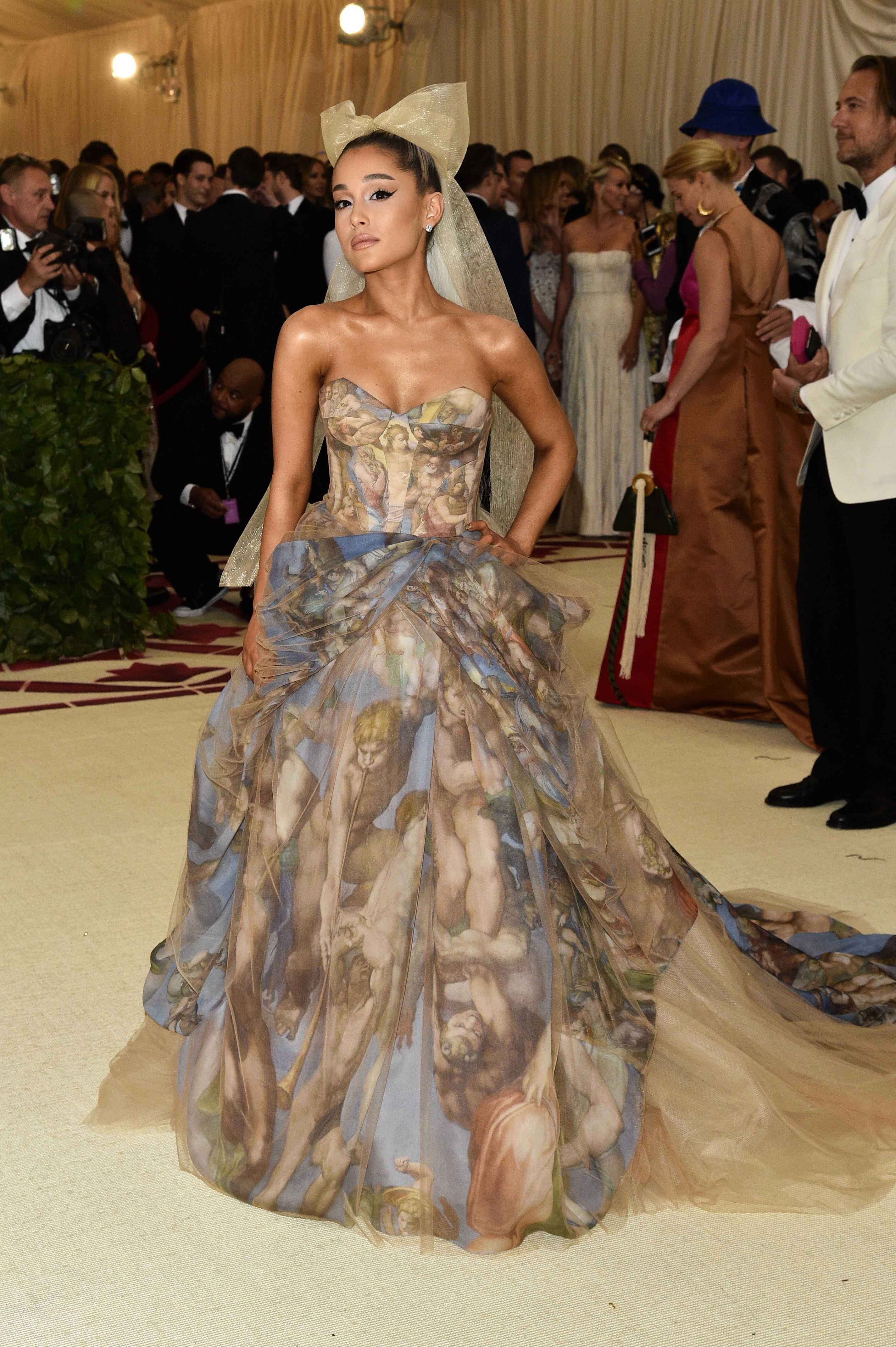 Ariana GrandeThe Metropolitan Museum of Art's Costume Institute Benefit celebrating the opening of Heavenly Bodies: Fashion and the Catholic Imagination, Arrivals, New York, USA - 07 May 2018