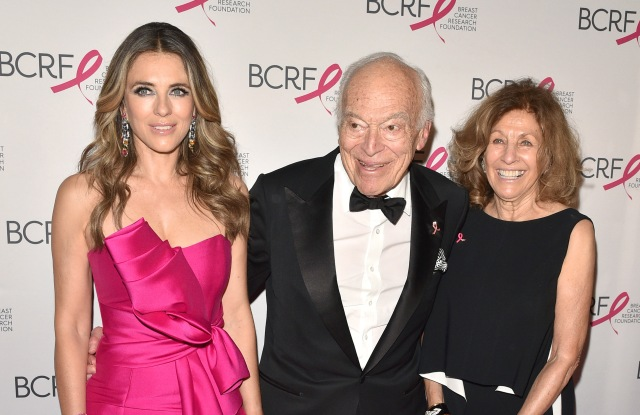 Elizabeth Hurley, Leonard Lauder, Judy Ellis GlickmanBreast Cancer Research Foundation's The Hot Pink Party: New Depths, Arrivals, New York, USA - 17 May 2018