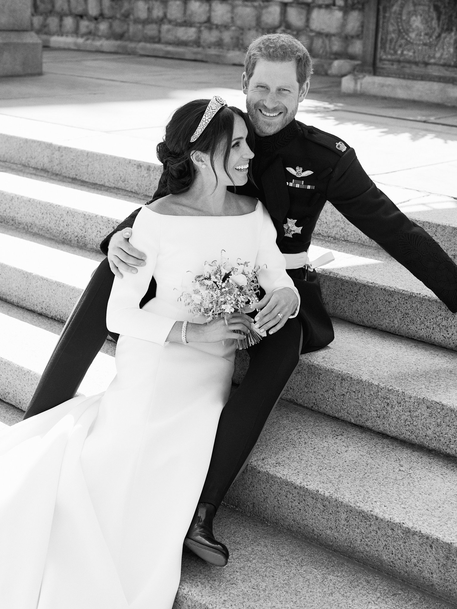 The Duke and Duchess of Sussex on the East Terrace