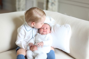 Prince George (in Rachel Riley) and Princess Charlotte (in Irulea)