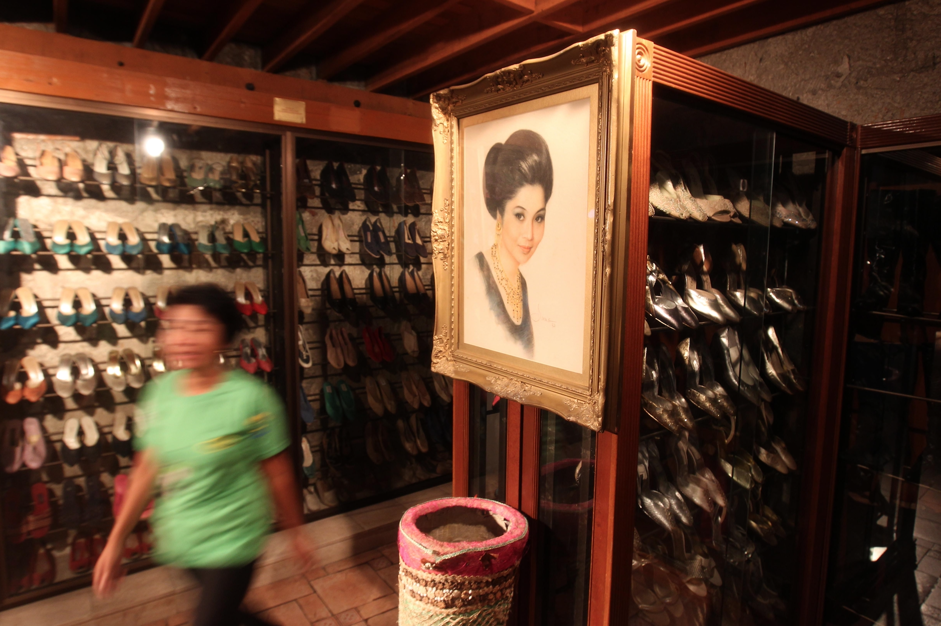 Part of Imelda Marcos' confiscated designer shoe collection.