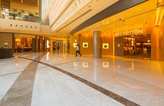A shopping mall in Hong Kong.