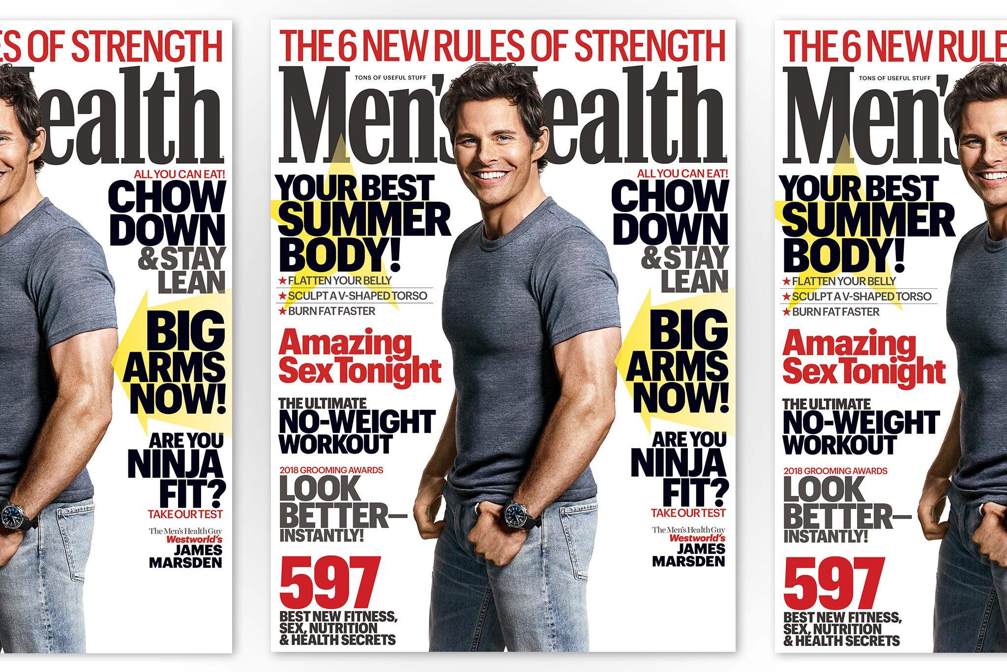 James Mardsen on the new June issue of Men's Health.