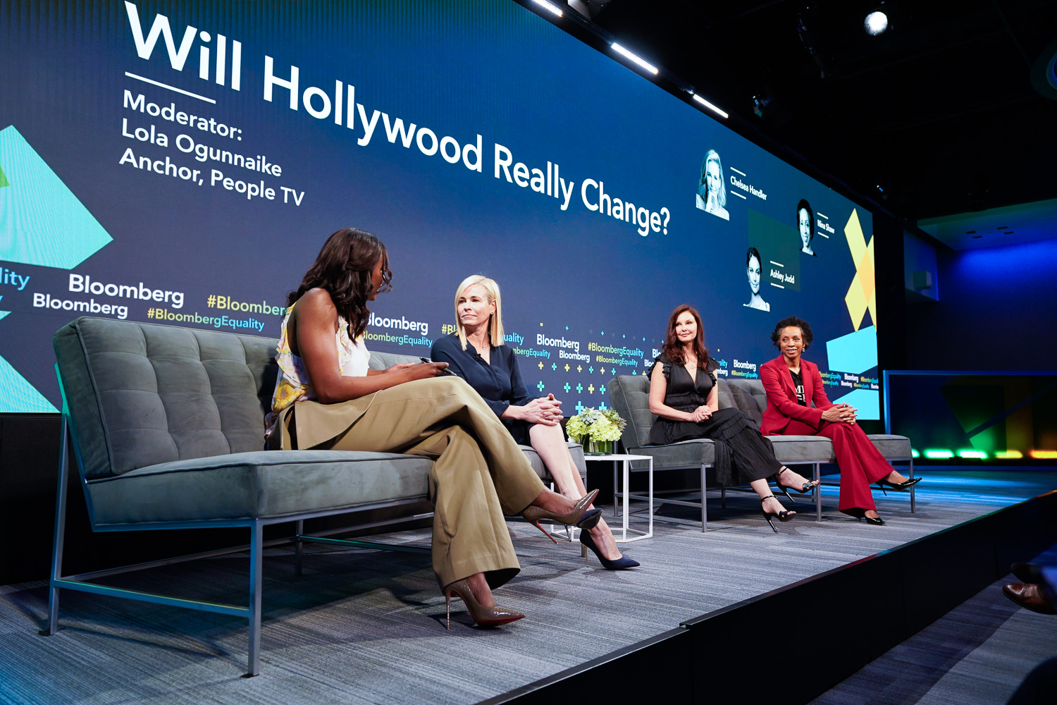 Chelsea Handler, Ashley Judd and Nina Shaw at Bloomberg's Business of Equality event.