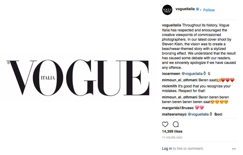 Vogue Italia's post on Instagram.