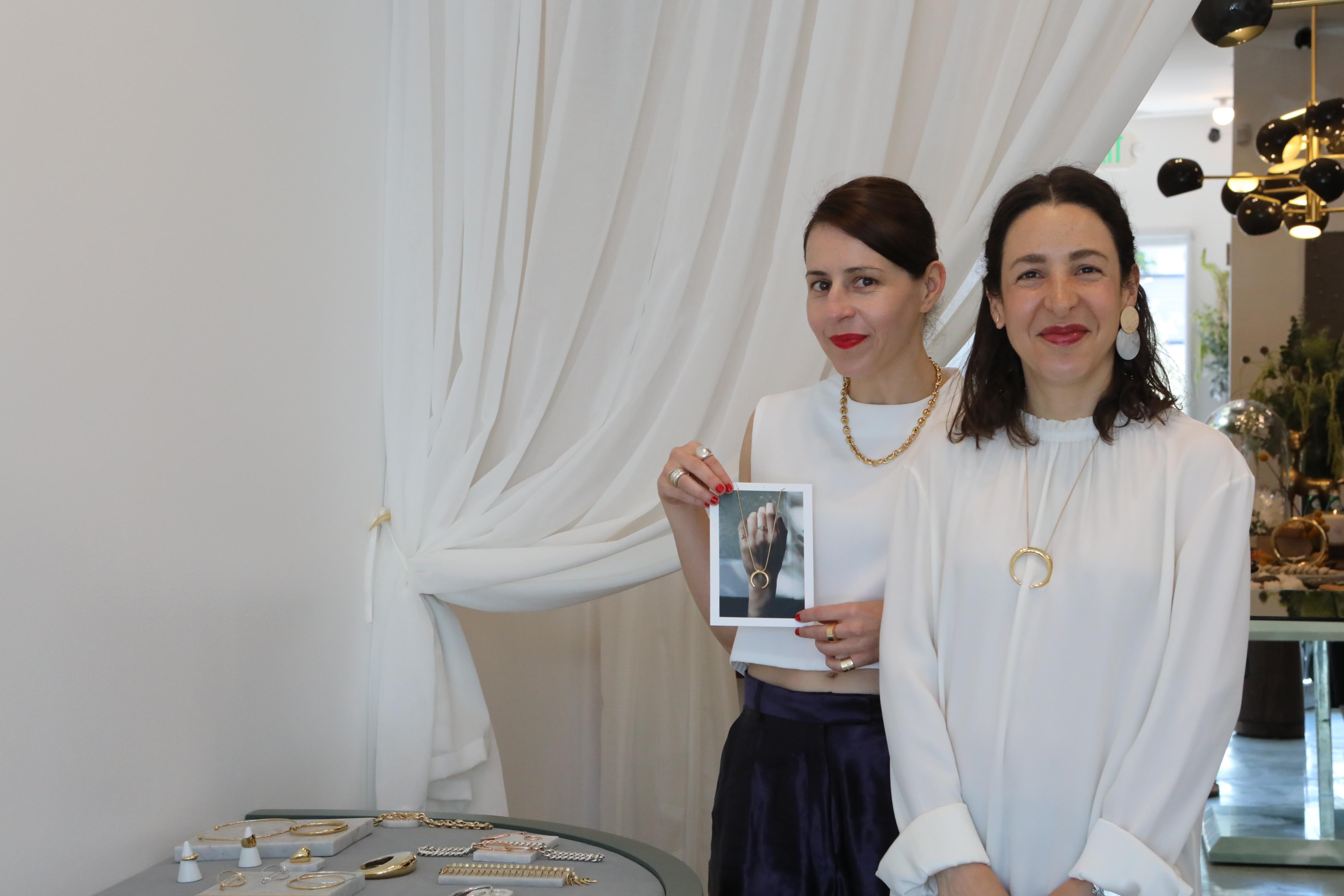 Tere and Gabriela Artigas in the Los Angeles boutique