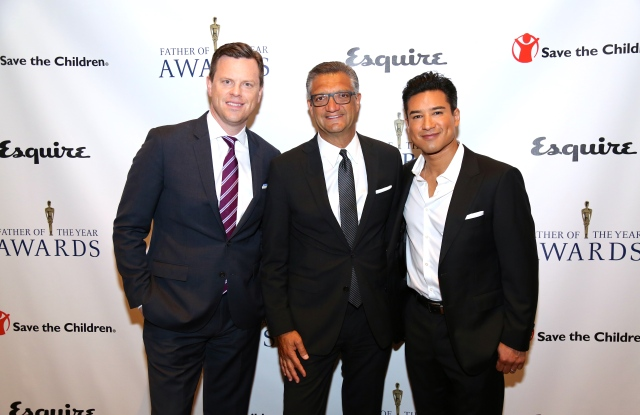 Honorees Willie Geist, Manny Chirico and Mario Lopez.