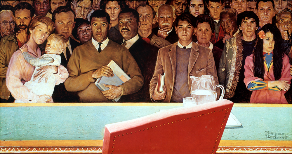 """Norman Rockwell's """"Right to Know."""""""