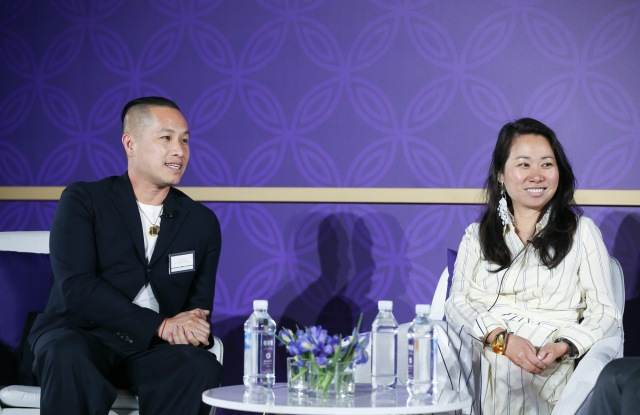 Designer Phillip Lim (left) and Wen Zhou ( right) at WWD's China summit in Xian.