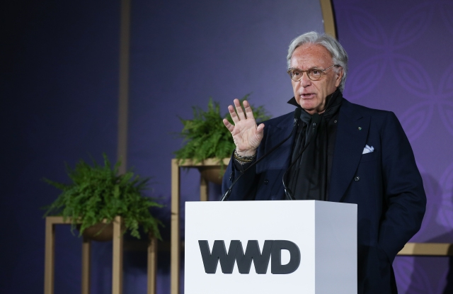 Tod's ceo Diego Della Valle at WWD's China summit in Xian.
