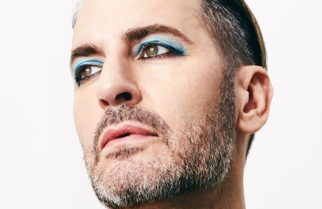 Marc Jacobs poses for Marc Jacobs Beauty's 2018 Pride campaign.