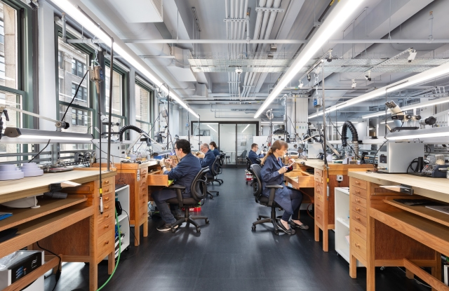 Inside Tiffany & Co's jewelry and design and innovation workshop, which houses its own sample development room.