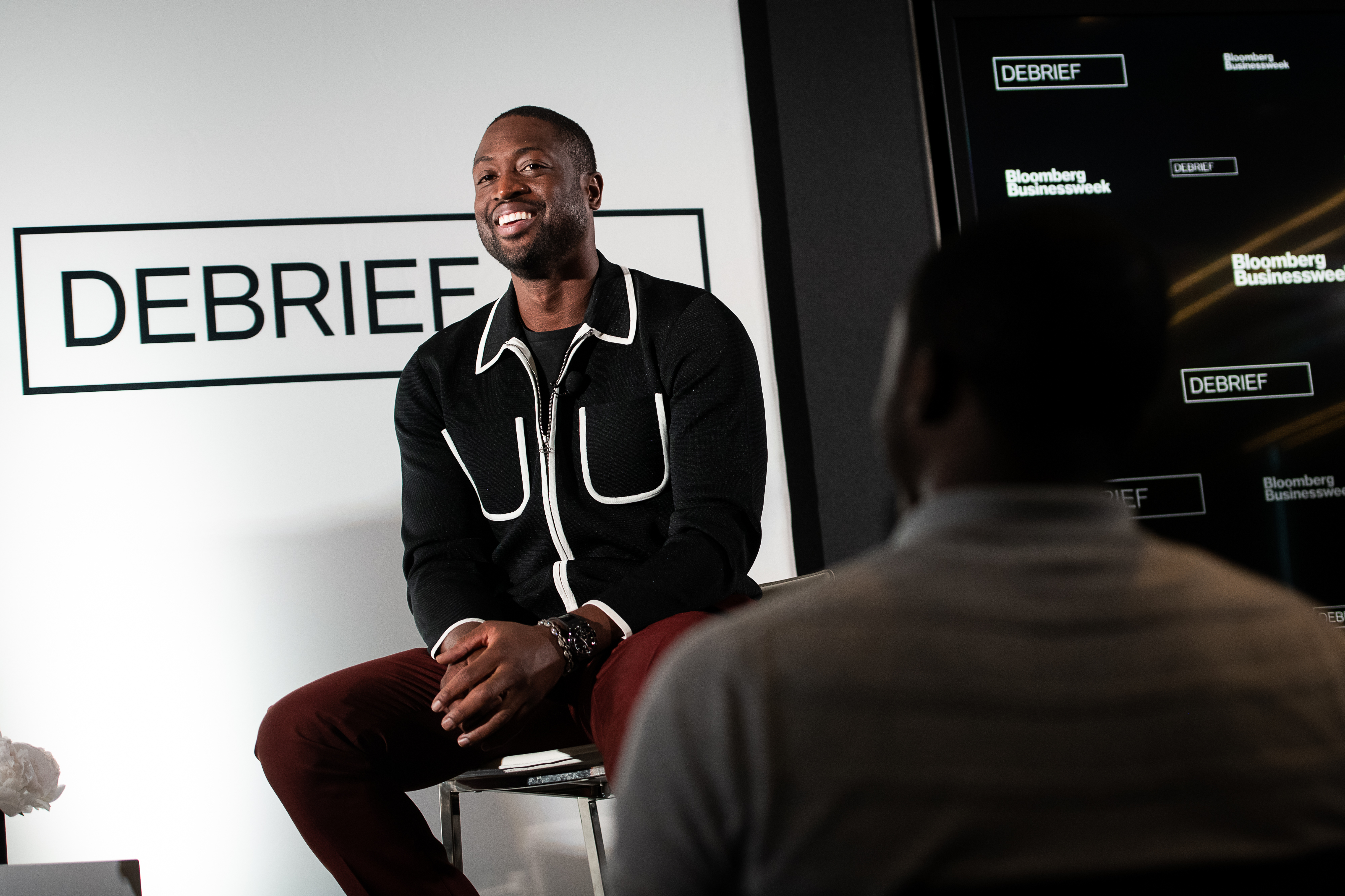 Dwyane Wade at the Bloomberg Debrief event.