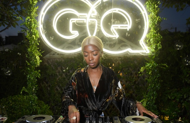 Dj Siobhan Bell performs at the GQ Milan Cocktail Party.