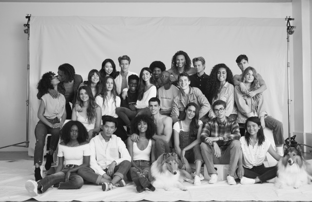 New Abercrombie & Fitch brand imagery celebrating diversity and inclusivity.