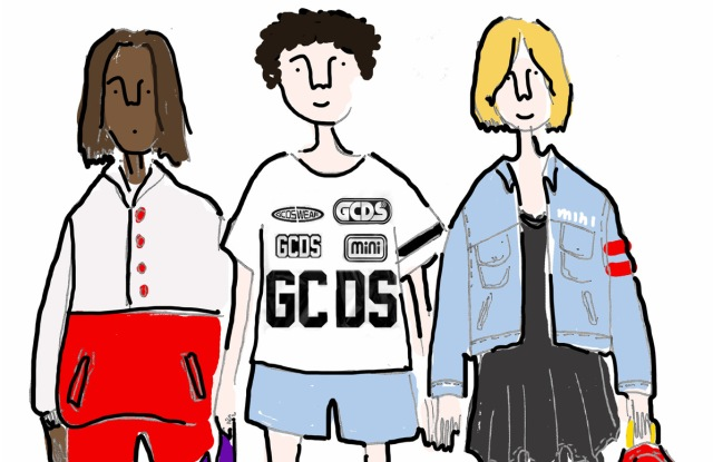 A sketch from GCDS Mini children's wear collection.