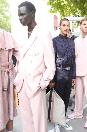 Backstage at Dior Homme Men's Spring 2019