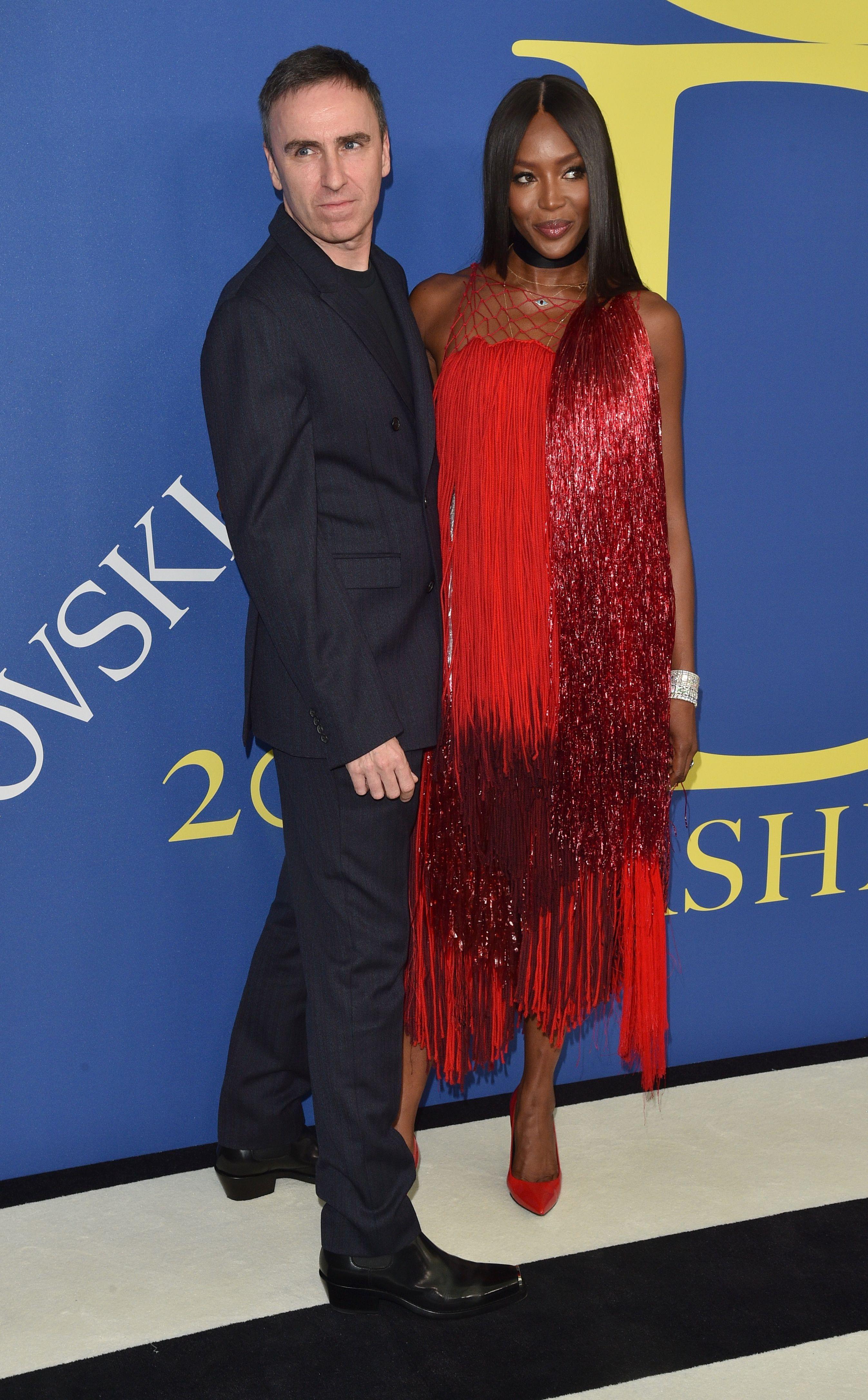 Naomi Campbell and Raf Simons