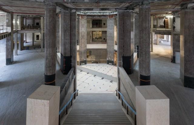 The construction site of the future Galeries Lafayette flagship on Avenue des Champs-Elysées.